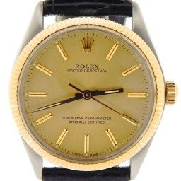 Mens Rolex Two-Tone 14K/SS Oyster Perpetual Champagne  1005 (SKU 9617914NBLKMT)
