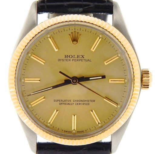 Rolex Two-Tone Oyster Perpetual 1005 Champagne -1