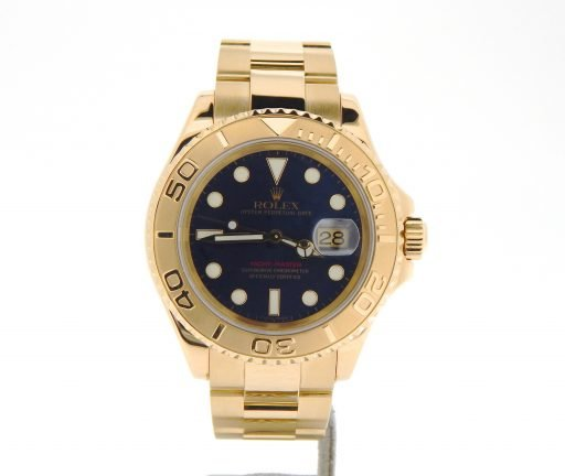 Rolex 18K Yellow Gold Yacht-Master 16628 Blue -7