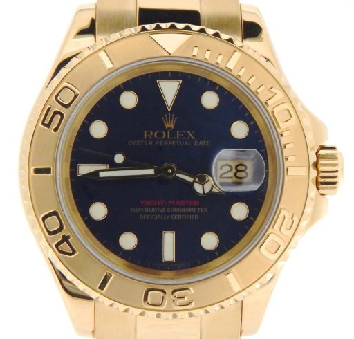 Rolex 18K Yellow Gold Yacht-Master 16628 Blue -1