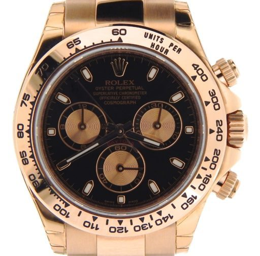 Rolex 18K Rose Gold Daytona 116505 Black-1