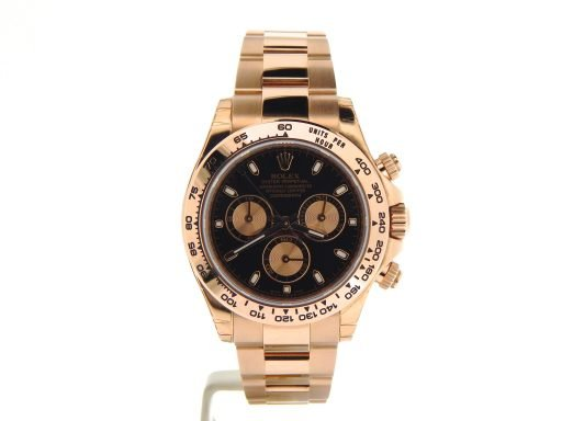 Rolex 18K Rose Gold Daytona 116505 Black-7