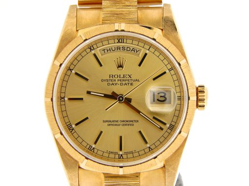 Rolex 18K Yellow Gold Day-Date President 18248 Champagne -1