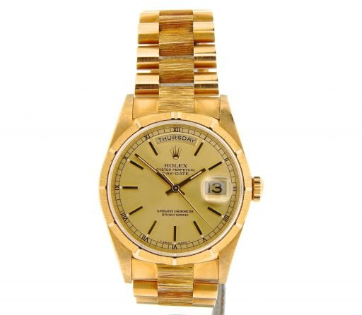 Rolex 18K Yellow Gold Day-Date President 18248 Champagne -6