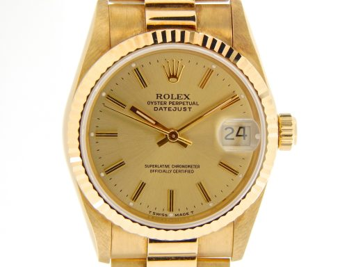 Rolex Yellow Gold Datejust President 68278 Champagne-1