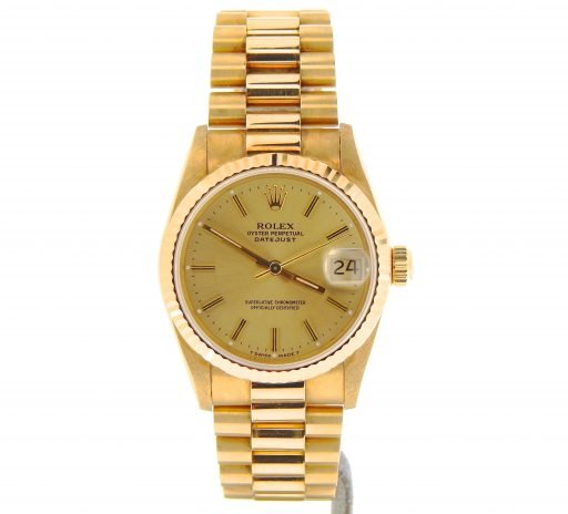 Rolex Yellow Gold Datejust President 68278 Champagne-5