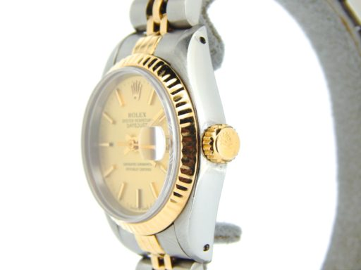 Rolex Two-Tone Datejust 69173 Champagne -5