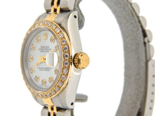 Rolex Two-Tone Datejust 69173 White MOP Diamond-5