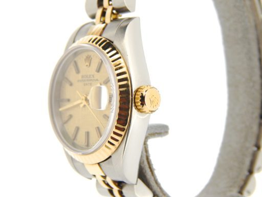 Rolex Two-Tone Date 69173 Gold Linen -5