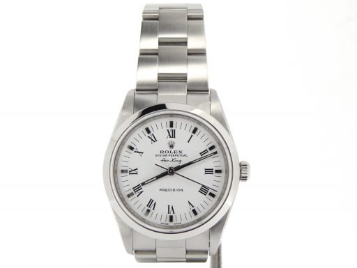Rolex Stainless Steel Air-King 14000M White-8