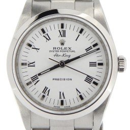 Mens Rolex Stainless Steel Air-King White Roman 14000M (SKU Z105019NCMT)