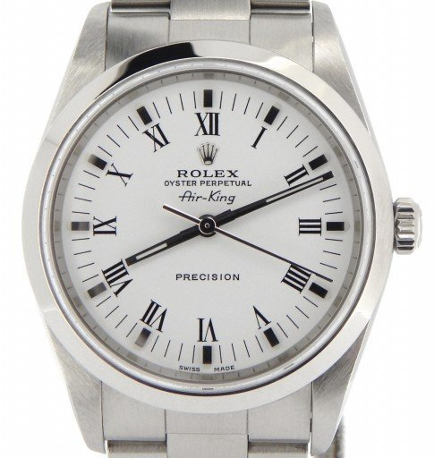 Rolex Stainless Steel Air-King 14000M White-1