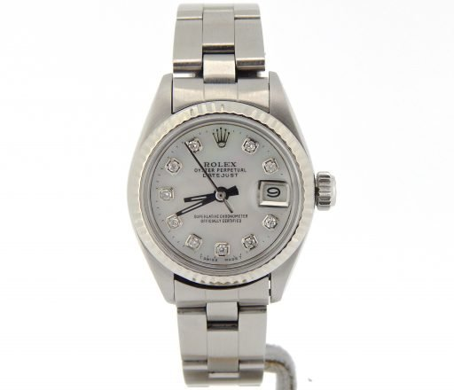 Rolex Stainless Steel Datejust 6917 White MOP Diamond-8