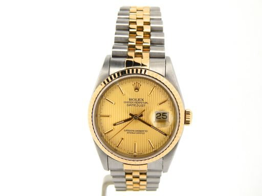 Rolex Two-Tone Datejust 16233 Champagne -8