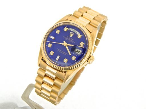 Rolex 18K Yellow Gold Day-Date President 1803 Blue Diamond-6