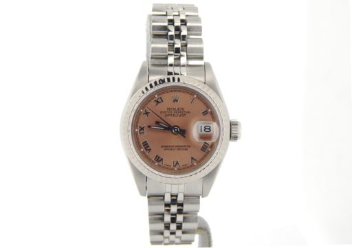 Rolex Stainless Steel Datejust 69174 Salmon Roman-6