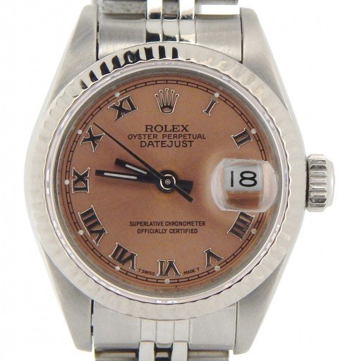 Rolex Stainless Steel Datejust 69174 Salmon Roman-1