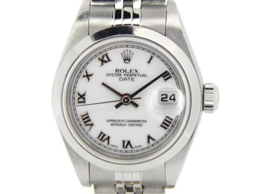 Rolex Stainless Steel Date 79160 White Roman-1