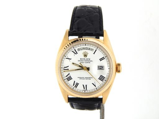 Rolex 18K Yellow Gold Day-Date President 1803 White Roman-8
