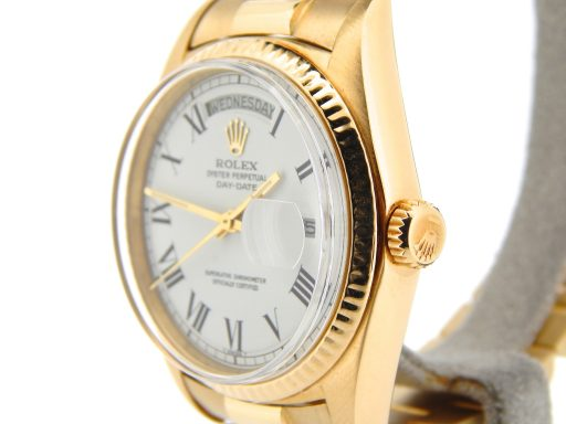 Rolex 18K Yellow Gold Day-Date President 1803 White Roman-6