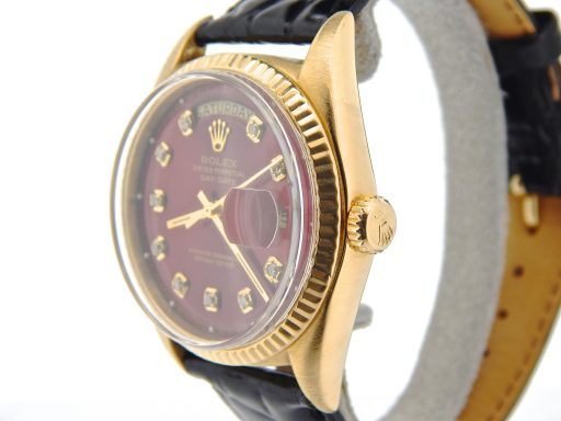 Rolex 18K Yellow Gold Day-Date President 1803 Red Diamond-6
