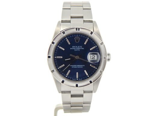 Rolex Stainless Steel Date 15210 Blue -8