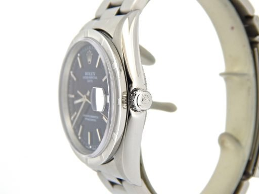 Rolex Stainless Steel Date 15210 Blue -6