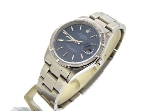 Rolex Stainless Steel Date 15210 Blue -7