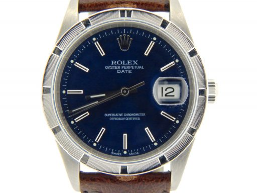 Rolex Stainless Steel Date 15210 Blue -1