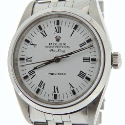 Mens Rolex Stainless Steel Air-King White Roman 14000 (SKU A366537NJUBCMT)