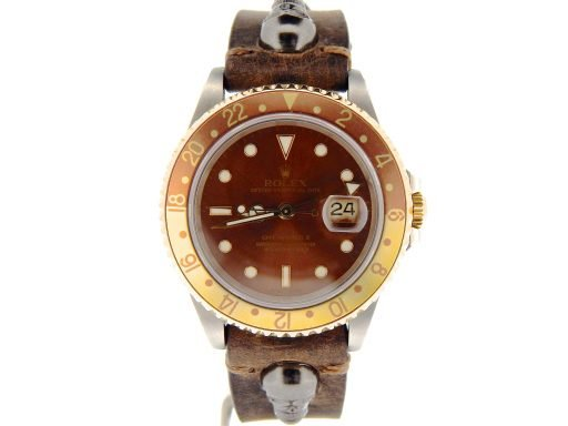 Rolex Two-Tone GMT Master II 16713 Brown Rootbeer -7