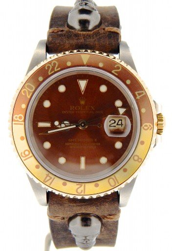 Rolex Two-Tone GMT Master II 16713 Brown Rootbeer -6