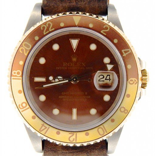 Rolex Two-Tone GMT Master II 16713 Brown Rootbeer -1