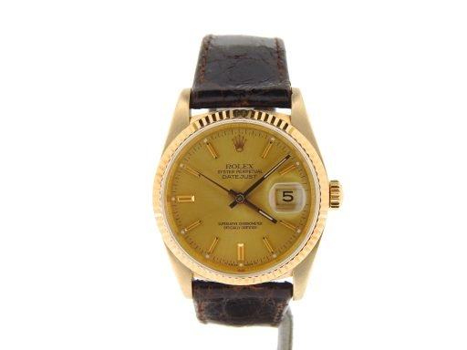 Rolex 18K Yellow Gold Datejust 16018 Champagne -7