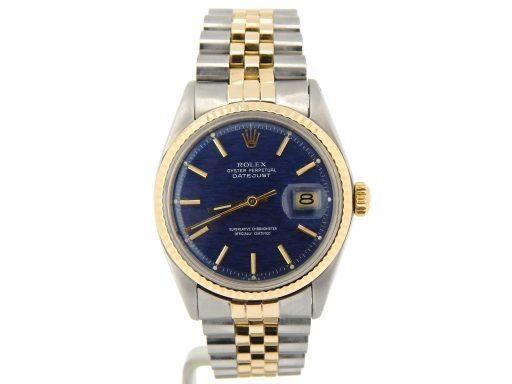 Rolex Two-Tone Datejust 1601 Blue -6