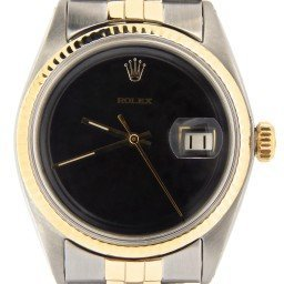 Mens Rolex Two-Tone 14K/SS Datejust Black  1601 (SKU 2082311NMT)