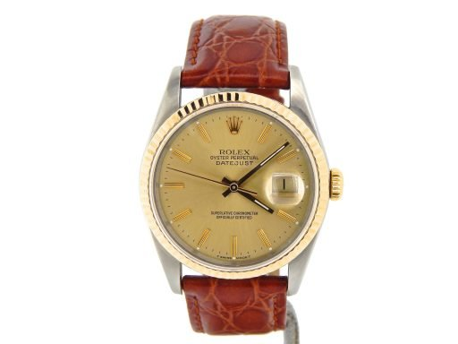 Rolex Two-Tone Datejust 16233 Champagne -9