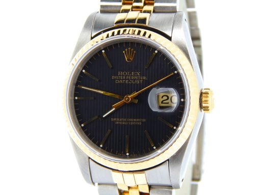 Rolex Two-Tone Datejust 16233 Black -7