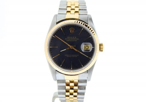 Rolex Two-Tone Datejust 16233 Black -9