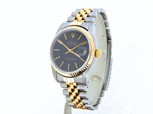 Rolex Two-Tone Datejust 16233 Black -8