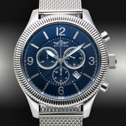 Mens Balmer Swiss Chronograph Vanquish Stainless Steel Watch w/Arabic Dial (SKU MBSCVSSWN)