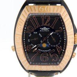 Men's Balmer Swiss Moon Phase Cobra Leather Watch w/Arabic Dial (SKU BSMPCLWN)