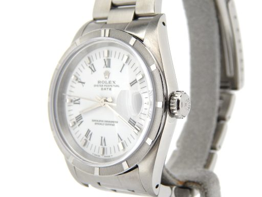 Rolex Stainless Steel Date 15010 White Roman-7