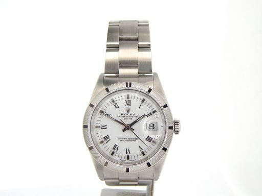 Rolex Stainless Steel Date 15010 White Roman-8