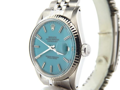 Rolex Stainless Steel Datejust 1601 Turquoise -5