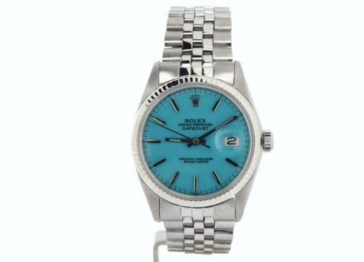 Rolex Stainless Steel Datejust 1601 Turquoise -6