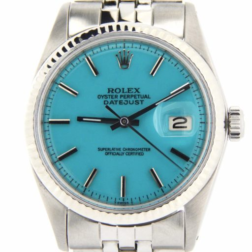 Rolex Stainless Steel Datejust 1601 Turquoise -1