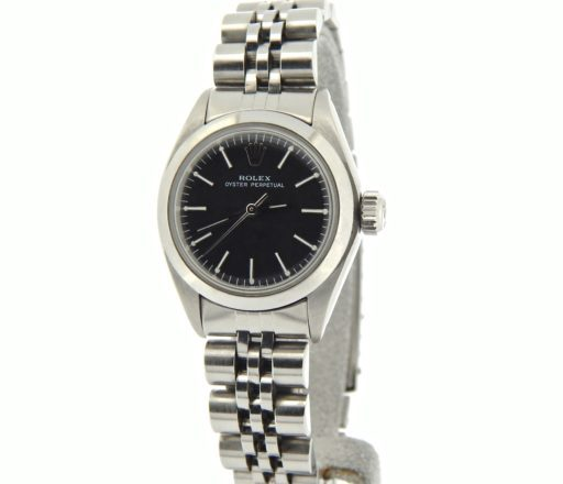 Rolex Stainless Steel Oyster Perpetual 6718 Black -7