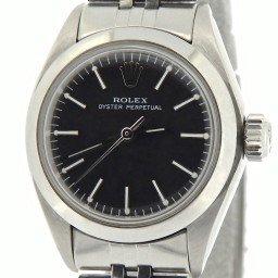 Ladies Rolex Stainless Steel Oyster Perpetual Black  6718 (SKU 6697715NCMT)