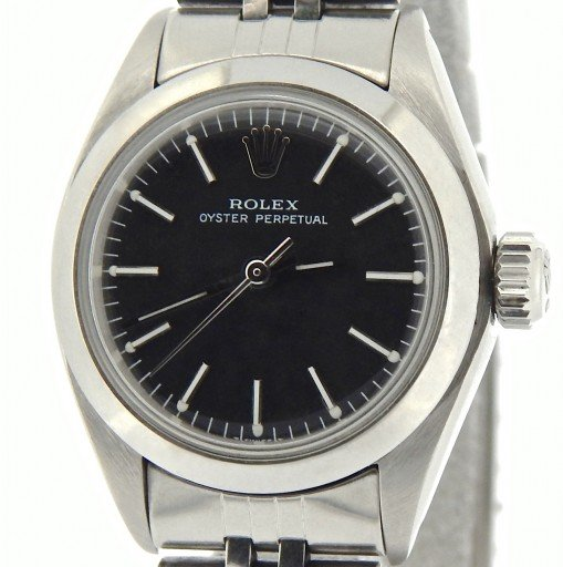 Rolex Stainless Steel Oyster Perpetual 6718 Black -1